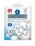 Перчатки полиэтиленовые GRIFON ANTIBAC, р-р М, 50 шт. в конверте