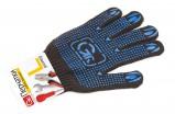 GRIFON Перчатки хлопчатобумажные черные с ПВХ напылением, размер L