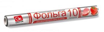Фольга GRIFON алюминиевая пищевая, особо прочная, 29см×10м, в пленке.