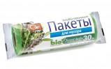 """Пакеты для мусора GRIFON Bio, """"Лесные травы"""". Особо прочные, ароматизированные, 30 л (50×60см), 20шт."""