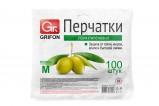 Перчатки полиэтиленовые GRIFON, р-р М, 100 шт. в п/эт упаковке