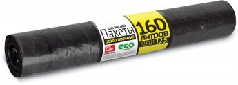 Мешки для мусора 160 л (25 мкм) ПВД черные, 10 шт
