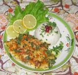 Филе морского окуня, запеченное в сырном соусе