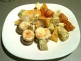 Шампиньоны, запеченные с овощами