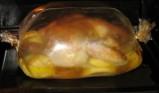 Румяная курочка с картошкой в рукаве